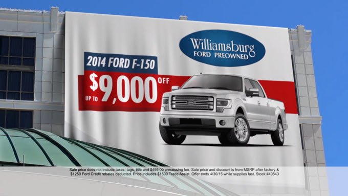 Williamsburg Ford – Banner Specials